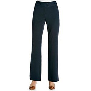 Rafaella  Petite Curvy Fit Navy Gabardine Pants